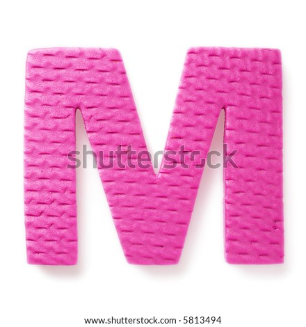 Letter M isolated on the white background - stock photo