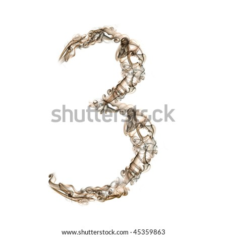Letter made of smoke isolated on white