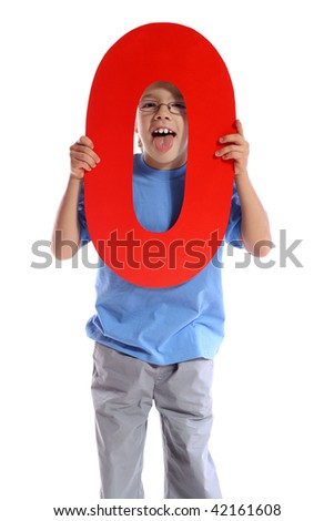 """Letter """"O"""" boy - See all letters in my Portfolio - stock photo"""