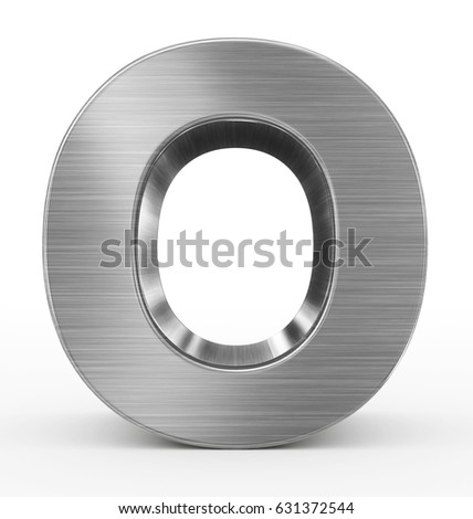 Letter O 3 D Metal Isolated On Stock Illustration 631372544 ...