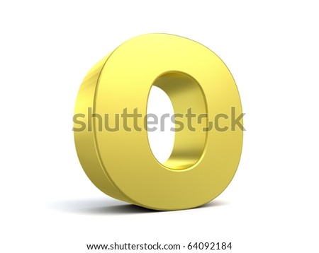 letter O from my golden collection - stock photo