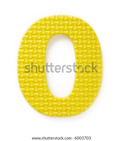 Letter O isolated on the white background - stock photo