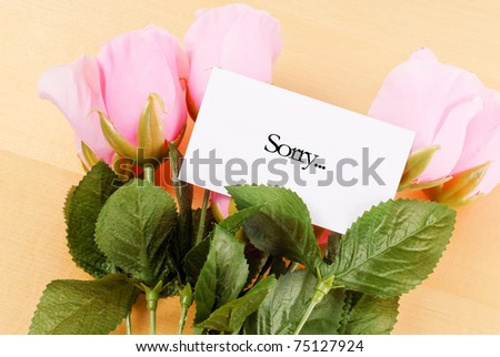 Letter of Apology - stock photo