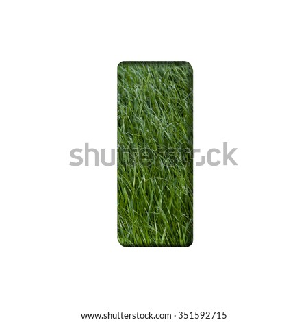 Letter of grass alphabet