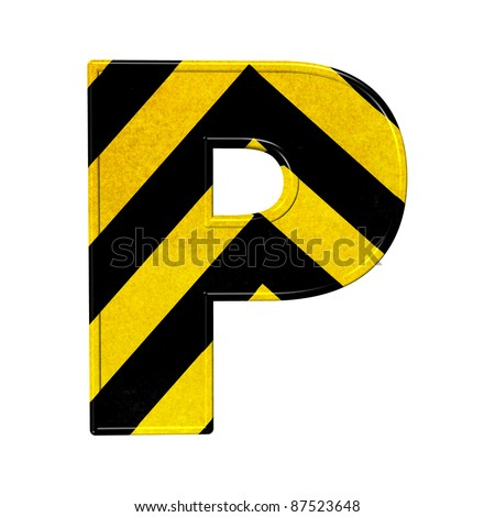 letter p Yellow Letter P
