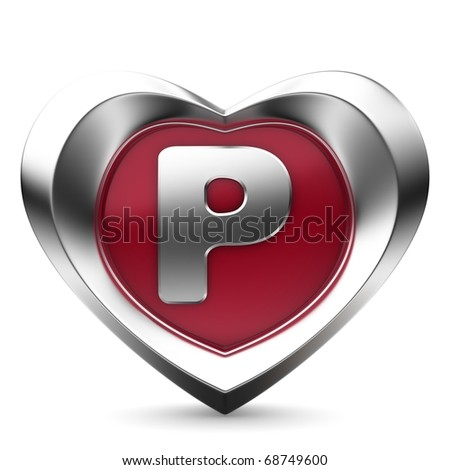Letter P From Alphabet Of Hearts