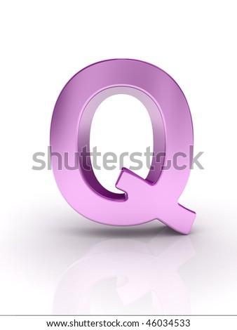 Letter Q - stock photo