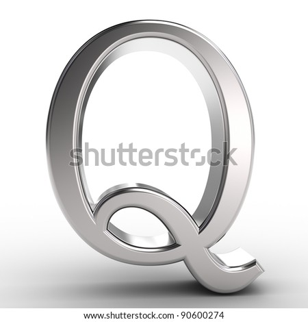 Letter Q, isolated on white background.