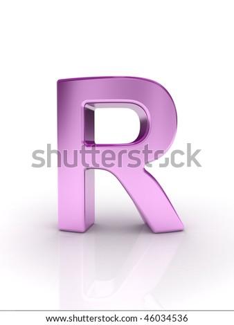 Letter R - stock photo