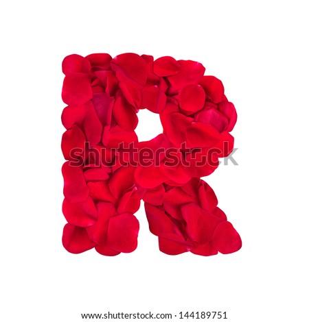 Letter R of rose petals  R Letter In Rose