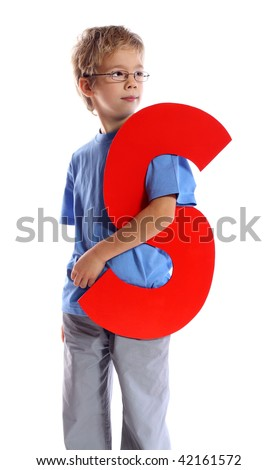 """Letter """"S"""" boy - See all letters in my Portfolio - stock photo"""
