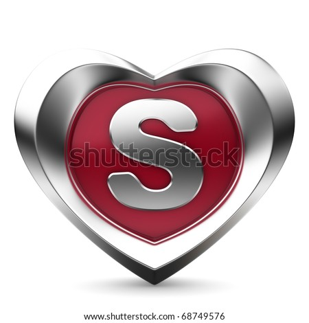 Letter S From Alphabet Of Hearts