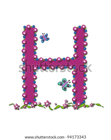 K Letter In Rose Letter S from Bead Alphabet is deep rose in color. Letter is outlined ...