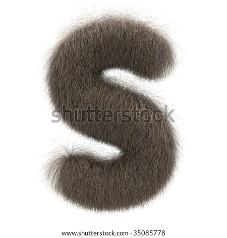 Letter S from fur alphabet - stock photo