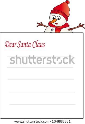 letter santa claus - stock photo