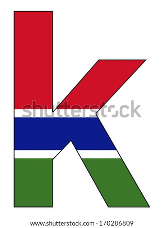 Letter series with flag inside - Gambia