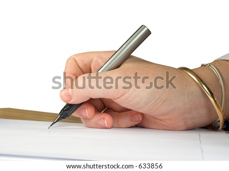 letter signature 4 - stock photo