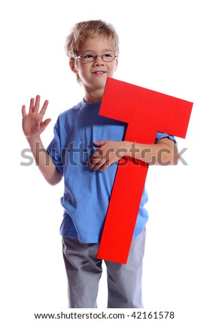 """Letter """"T"""" boy - See all letters in my Portfolio - stock photo"""