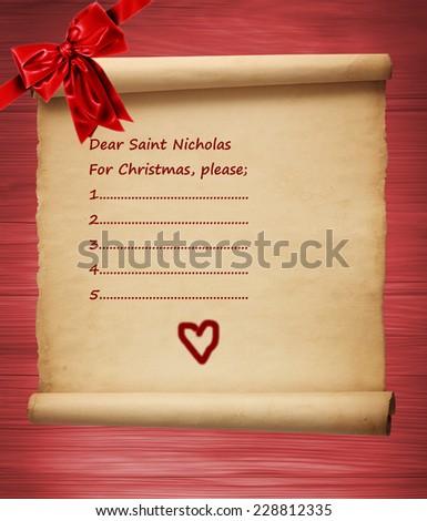 Letter to Santa Claus - stock photo