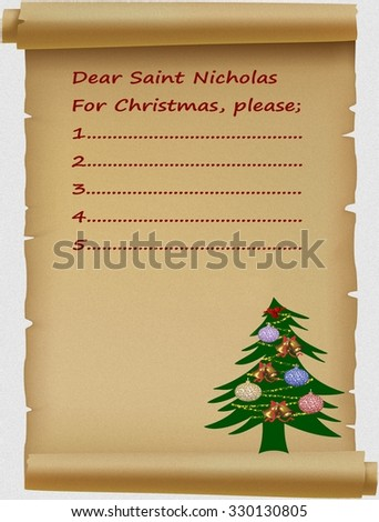 Letter to Santa Claus - stock photo
