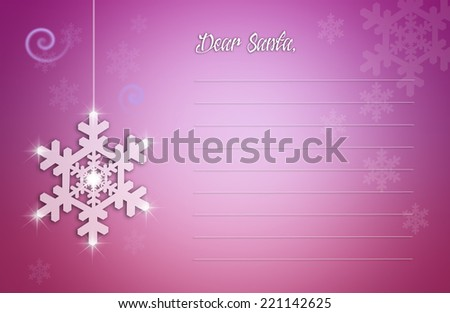 Letter to Santa Claus for Christmas - stock photo