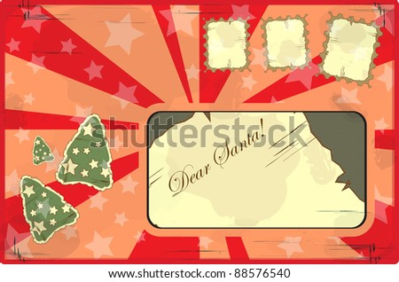 letter to Santa Claus in vintage style - stock photo