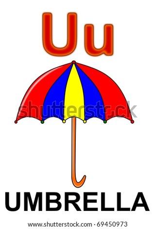 "Letter ""U"" umbrella - stock photo"