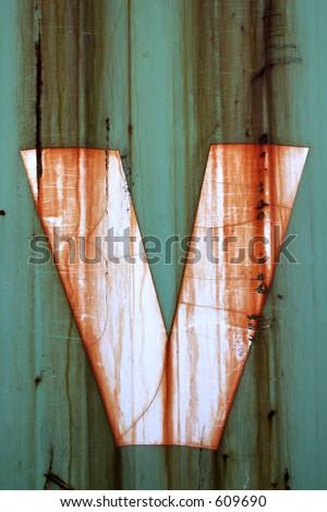 Letter V - stock photo