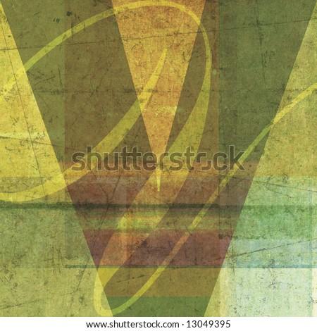 letter V. Alphabet symbol - grunge layered - stock photo