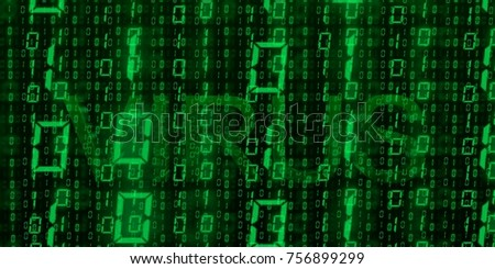 Letter Virus green binary code wallpaper
