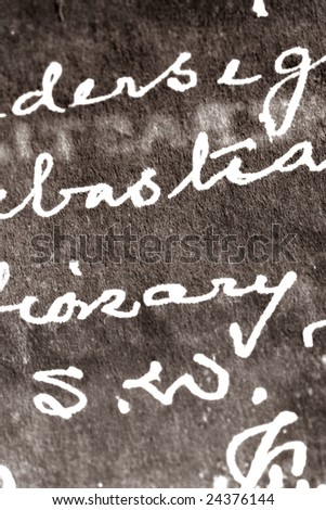 Letter with handwriting - stock photo