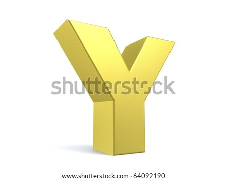 letter Y from my golden collection