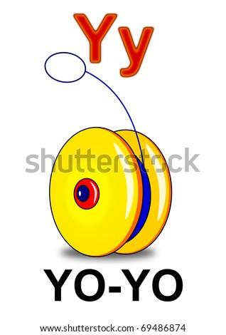 """Letter """"Y"""" yo-yo - stock photo"""