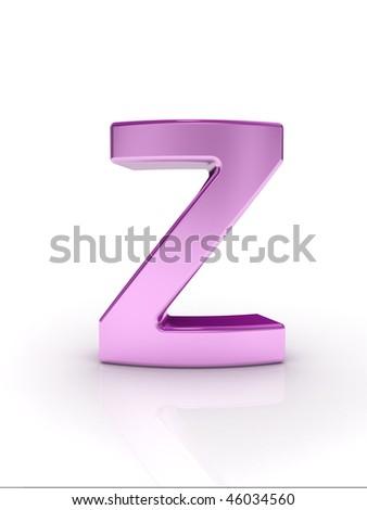 Letter Z - stock photo
