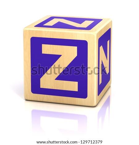 letter z alphabet cubes font - stock photo