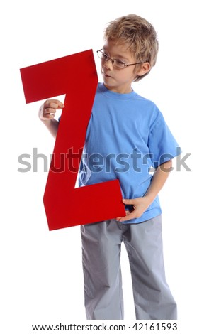 """Letter """"Z"""" boy - See all letters in my Portfolio - stock photo"""