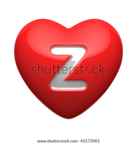 Z Alphabet In Heart Letter Z from alphabet of hearts. There is a clipping path - stock ...