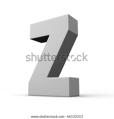 Letter Z from solid alphabet. There is a clipping path