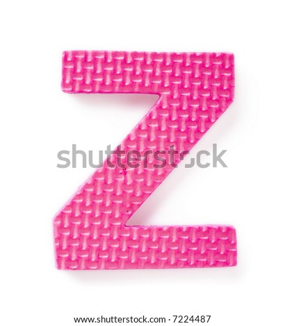 Letter Z isolated on the white background - stock photo