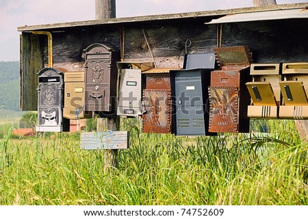 letterbox - stock photo