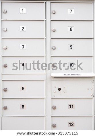 letterbox or incoming and outgoing  Mail box for easy distribution to office or apartments