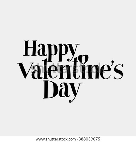 """lettering """"Happy Valentine's Day."""" Hand drawing, an individual font. Dark letters on a light background. - stock photo"""