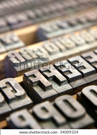 Letterpress blocks - stock photo