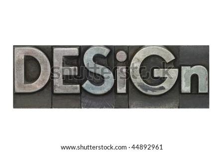 Letterpress Design - stock photo