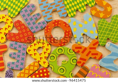 letters and colors - stock photo