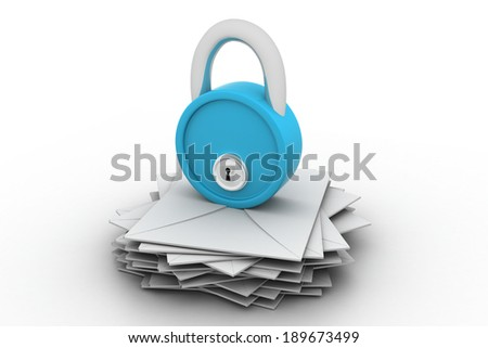 Letters and padlock - stock photo