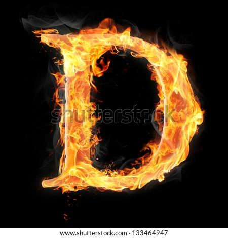 Letters Symbols Fire Letter D Stock Illustration 133464947 ...