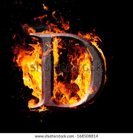Letters symbols fire letter d stock illustration 168508814 letters and symbols in fire letter d altavistaventures Images