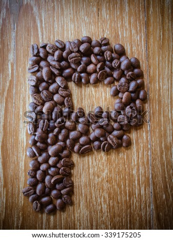 letters coffee