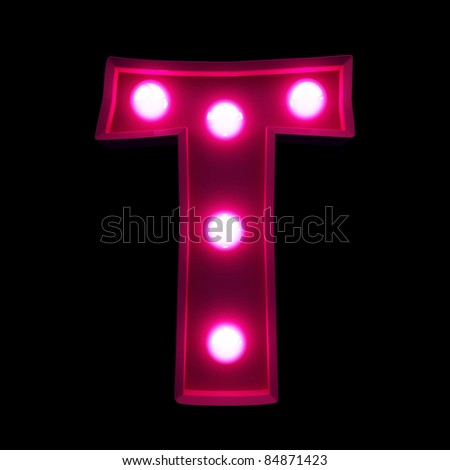 letters for signs with lamps - stock photo